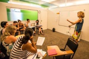 Salle de cours en séjour linguistique cape town